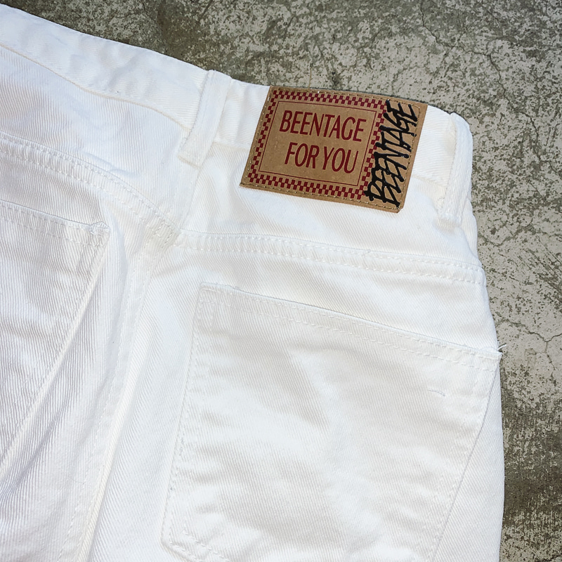 BEENTAGE FOR YOU #WHITE JEANS